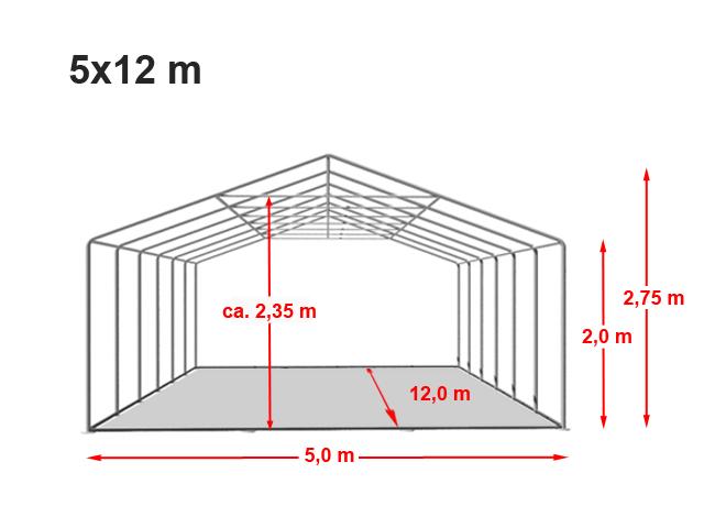 Párty stan Prémium 5x12m